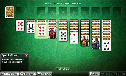 double solitaire one deck