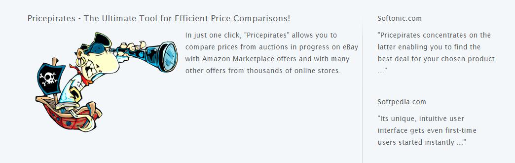 Pricepirates Mobile app